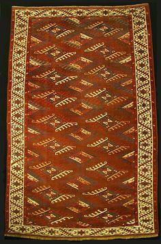 M. Tehrani Yomut Maincarpet 267 x 170 cm Mid 19th Century