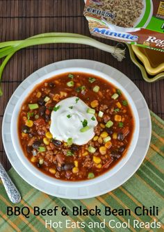 30 minute meal! Healthy and hearty! BBQ Beef & Black Bean Chili from Hot Eats and Cool Reads! #ad #minutesnacks
