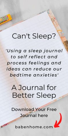 Can't sleep? You mind is racing? Improve your mental health in less than 5 minutes. Reduce bedtime anxieties and increase productivity by using a sleep journal to process your feelings and ideas. #babenhome #sleepjournal #freesleepjournal #baby #babies #kids #sleep #parenting #sleephacks #babysleep #parentingtips #can'tsleep #kidssleep #kidsandparenting #sleepanxiety #productivity Can't Sleep, Kids Sleep, Sleep Journal, Bujo, Daily Affirmations, Christian Affirmations, Mental Health Benefits, Working On Me, Vitamins