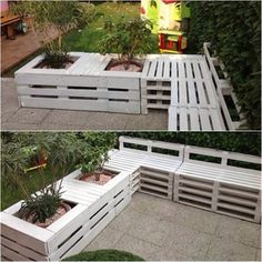 Pallet Fence With Garden My Favorite!!