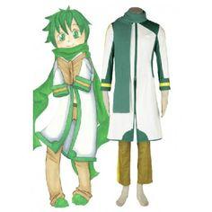 Vocaloid Nigaito Kaito Green Cosplay Costume