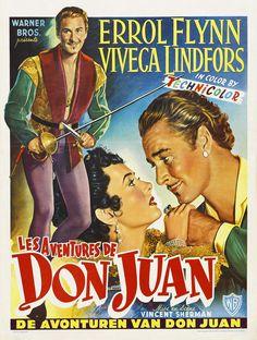 Errol Flynn movie Poster - The Adventures of Don Juan