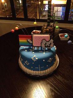 Nyan-cat cake