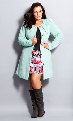 City Chic - PRINCESS COAT - Women's Plus Size Fashion City Chic -