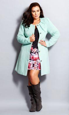 City Chic - PRINCESS COAT - Women's Plus Size Fashion City Chic -