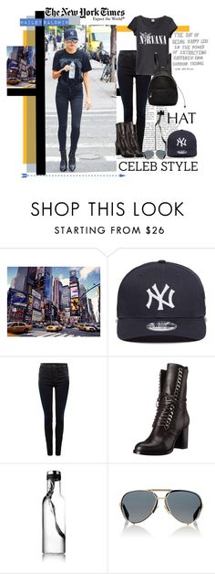 """""""Hailey Baldwin - Dad Hat"""" by mkanzee ❤ liked on Polyvore featuring New Era, Replay, Casadei, Givenchy, STELLA McCARTNEY, GetTheLook, Newyork, hats, haileybaldwin and dadhat"""