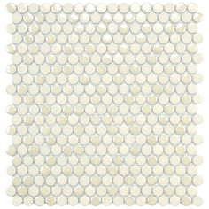 SomerTile 11.25x12-inch Posh Penny Round Almond Porcelain Mosaic Tiles (Set of 10)   Overstock.com