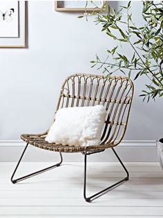 Low Rattan Chair