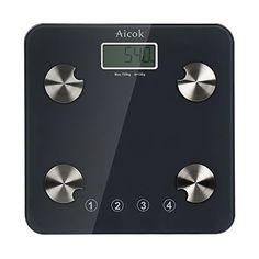 Aicok Digital Body Fat Scale with Stepon Technology Tempered Glass Platform Measures Weight Body Fat Water Muscle and Bone Mass Bathroom Weight Scale ** Check this awesome product by going to the link at the image. Note:It is Affiliate Link to Amazon.