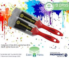 19 days left of our birthday countdown and we have lots of specials! This 38 mm Everyman brush costs only Offer valid from the 2 Feb to 6 Feb while stocks last, E&OE. Birthday Countdown, 19 Days, 21st Birthday, Painting, Painting Art, Paintings, Painted Canvas, Drawings