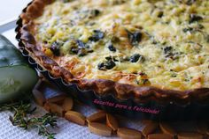 Cucumber and Spinach Quiche  Soooo obsessed with making quiche and I don't know why? They look soooo good!