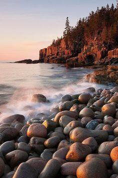Dawn at Otter Cliffs, Maine
