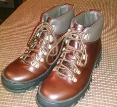 Polo Ralph Lauren Mens Brown Leather Boots Size 8D NWOB #PoloRalphLauren #HikingTrail