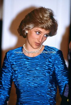 01.02.1989; New York, USA: PRINCESS DIANA attends a cocktail party hosted by Dawson International at The Equitable Center on Seventh Avenue in Manhattan, at the start of her visit to New York. Diana's whirlwind visit to New York lasted 43 hours.