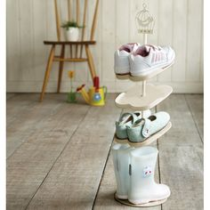 Kid's Shoe Rack from Japan. White