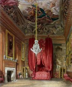 Shop Queen Mary's State Bed Chamber, Hampton Court Poster created by bridgemanimages. Marie Tudor, Dinastia Tudor, Los Tudor, Tudor History, British History, Tudor Dynasty, Hampton Court, Hampton Palace, Palace Interior