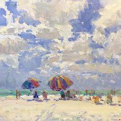 Beach Skies by Richard Oversmith Oil ~ 12 x 12