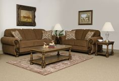 """Pickpocket Brazil Sofa and Love Seat Built with Quality in mind, this group features all solid hardwood frames and the very best materials from Serta Quality Upholstery.  Stylish wood accents and big bun feet. Cushions are reversible, and the set  includes 4 fringed toss pillows in Manchester Spa fabric   $899.00 Set  Sofa $499.00 91"""" x 36"""" x 36"""" Love Seat $449.00 69"""" x 36"""" x 36""""   OAK 8000"""