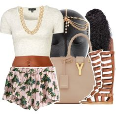 Spring Break.3.20.15 by yungd on Polyvore featuring Topshop, H&M, Qupid, Yves Saint Laurent and Michael Kors