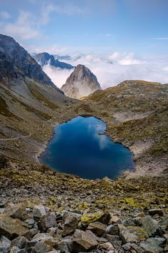 Vysoké Tatry (Reflective Tarn) - Tatra Mountains (Slovakia) during September Photos Of The Week, Great Photos, Places Around The World, Around The Worlds, Tatra Mountains, Beautiful Waterfalls, Parcs, Amazing Architecture, Amazing Nature