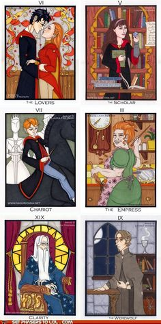 Harry and Ginny, Hermione, Ron, Molly Weasley, Albus Dumbledore, Remus Lupin I love this's