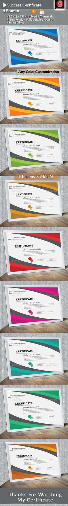 Certificate template certificate template and infographic templates success certificate yadclub Gallery