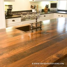 Countertops, Bar Tops and Table Tops | The Vintage Wood Floor Company