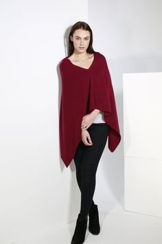 Cashmere knitted poncho #aw16 #poncho