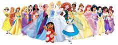 Ilustrações de Higgo Cabral • Atrizes Brasileiras Como Princesas da Disney
