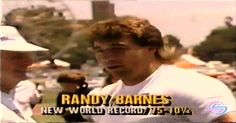 Randy Barnes World Record   1990 Randy Barnes - World Record. WR shot put 23.12 Westwood, Los Angeles 1990-05-20.