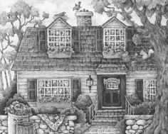 Coloring Pages For Adults Homes : Free grayscale coloring book pages coloring sheets