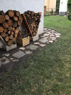 24 Super Easy DIY Outdoor Firewood Racks - Now, let's look at a number of the DIY outdoor firewood rack tips that you will love. A-Frame Firewood Storage is a perfect DIY project for just about any homeowner. Firewood Racks with Tools For … Fire Pit Backyard, Backyard Patio, Backyard Landscaping, Landscaping Ideas, Backyard Seating, Diy Backyard Projects, Diy Projects, Outdoor Firewood Rack, Firewood Holder