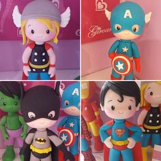 Arts And Crafts With Popsicle Sticks Info: 4219465014 Polymer Clay Figures, Polymer Clay Miniatures, Fondant Figures, Polymer Clay Crafts, Diy Clay, Hero Crafts, Diy And Crafts, Crafts For Kids, Superman Cakes