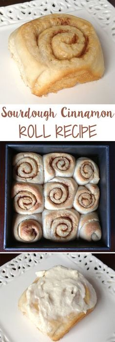 Sourdough Cinnamon Roll Recipe - Our Potluck Family - - Dessert Bread Recipes Sourdough Cinnamon Rolls, Cinnamon Recipe, Cinnamon Bread, Sourdough Starter Discard Recipe, Sweet Sourdough Bread Recipe, Dessert Bread, Roll Recipe, Bread Baking, Baking Soda