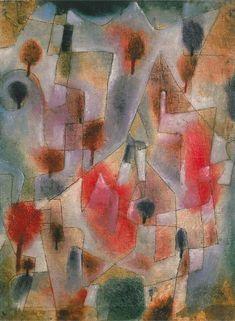 Paul Klee Landschaft mit Blauen und Roten Bäumen, 1920