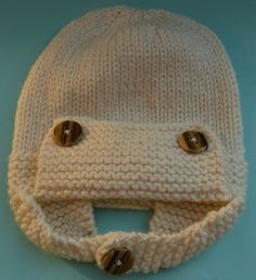 Classic Aviator Hat Ready to Ship in 3 to 6 by littlenogginknits, $28.00