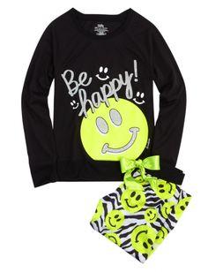 Smiley Face Capri Pajama Set | Girls Pajamas & Robes Pjs, Bras & Panties | Shop Justice