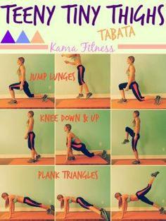 Teeny Tiny Thighs {Tabata Workout} by Kama Fitness by ajct