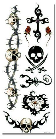 """Classic Pirate Temporary Tattoo #88 . $3.99. Classic Pirate Temporary Tattoo - Right now temporary tattoos are the """"it thing"""" in fashion... From the runways of Paris to the streets of New York, it's all over the globe.  Temporary tattoos are removable tattoo designs that go on the skin with water, and can last up to 7 days. These are high quality designs that are purely temporary, but look real on the skin! If you need to remove the design at any point, it is simpl..."""