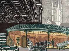 Borough Market, #illustration by Edward Bawden