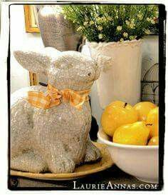 Darling Easter Bunny!!! Bebe'!!! Sweet Easter Vignette!!!