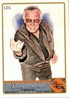 2011 Topps Allen & Ginter Baseball Card #274 Stan Lee Marvel Comics Spiderman Creator by Topps Allen and Ginter. $2.99. Quickly and securely shipped in a toploader, soft sleeve and bubble envelope.