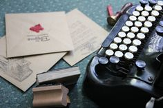 The makings of your hand typed wedding invitation!
