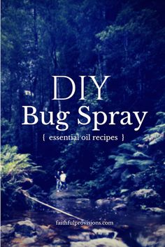 DIY Bug Spray Recipe - 4 recipes using essential oils that you might have on hand!