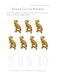 Dinosaurs Worksheets for Kids