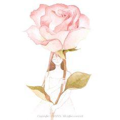 손끝에 봄 일러스트 'rose' #by_rana…