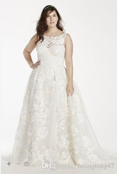 Let charming wedding dresses for plus size on DHgate.com get your heart. Besides, wedding dresses under 500 and wedding gown designers are also winners.  free shipping custom-made 2015 new! tank lace ball gown with beaded applique style 8cwg658 wedding dresses h3o6 belong to you and huanglong47 can cheer you up.