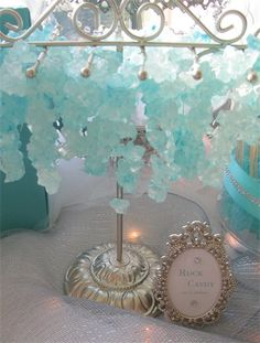 Tiffany Themed Wedding Desserts