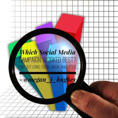 """""""Which Social Media campaign worked best? Find out using analytics! Megan Hughes, Social Media Analytics, Media Campaign, Infographics, Top, Infographic, Info Graphics, Crop Shirt, Shirts"""