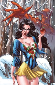 #girl #hot #omg #beauty #bikini #love J Scott Campbell - Snow White - Disney Adult Style